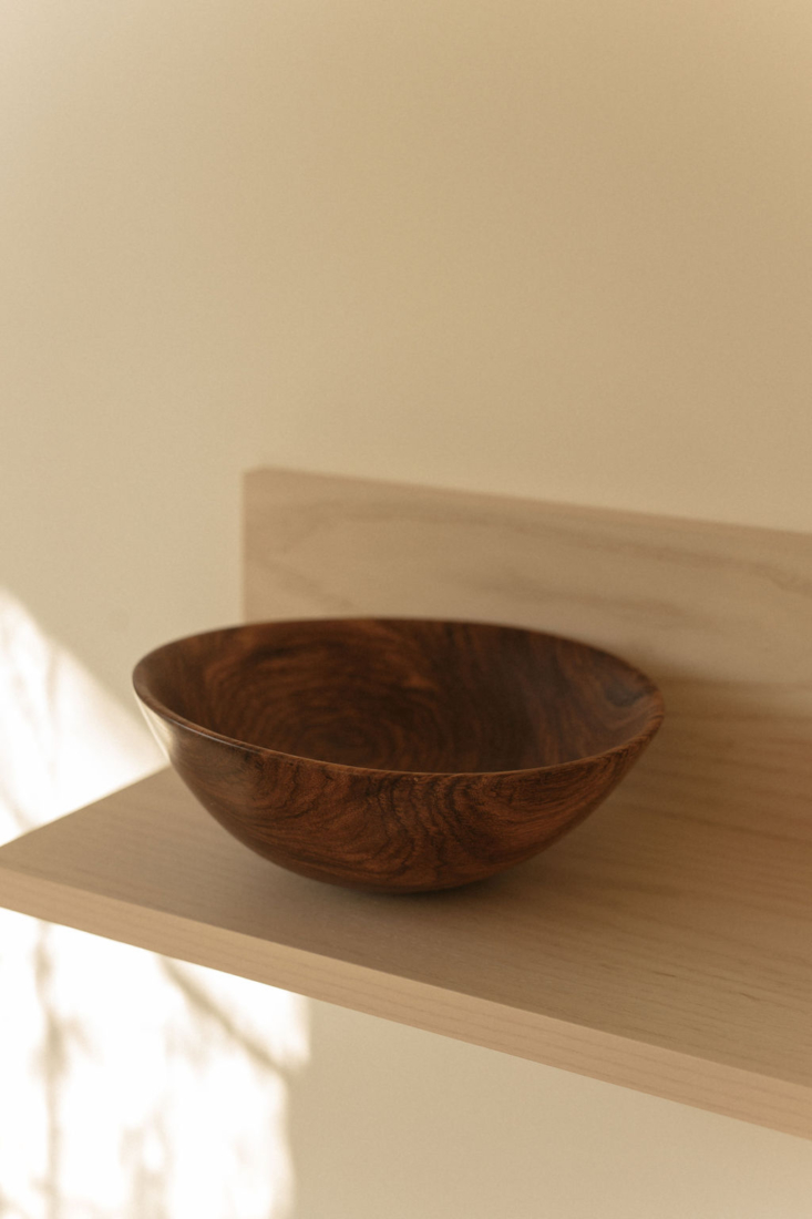 another of amadou's expertly carved bowls. 12