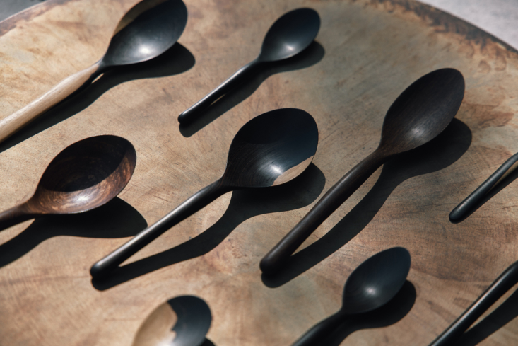 """obakki recommends the smooth hand carved 8"""" seasoning spoon (\$67), made from 15"""