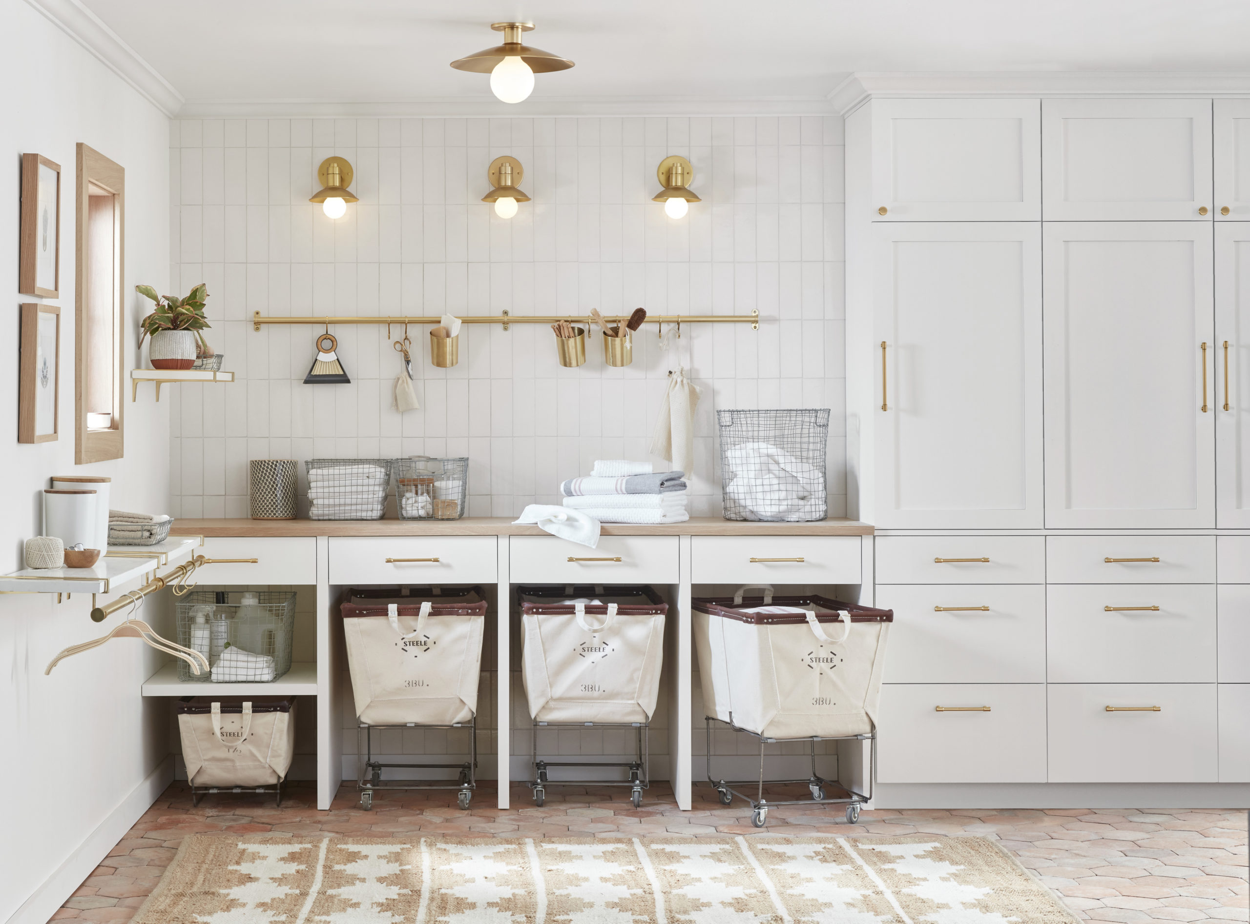 5 Tips for a Good-Looking, Hard-Working Laundry Room via Rejuvenation - Remodelista