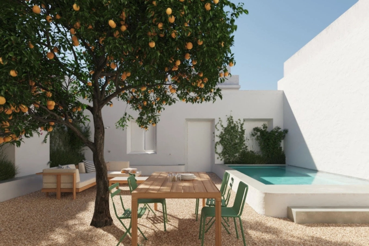 One Two Three Minimalist Guesthouses on the Coast of Portugal Pools Included The ideal spot for dinner.