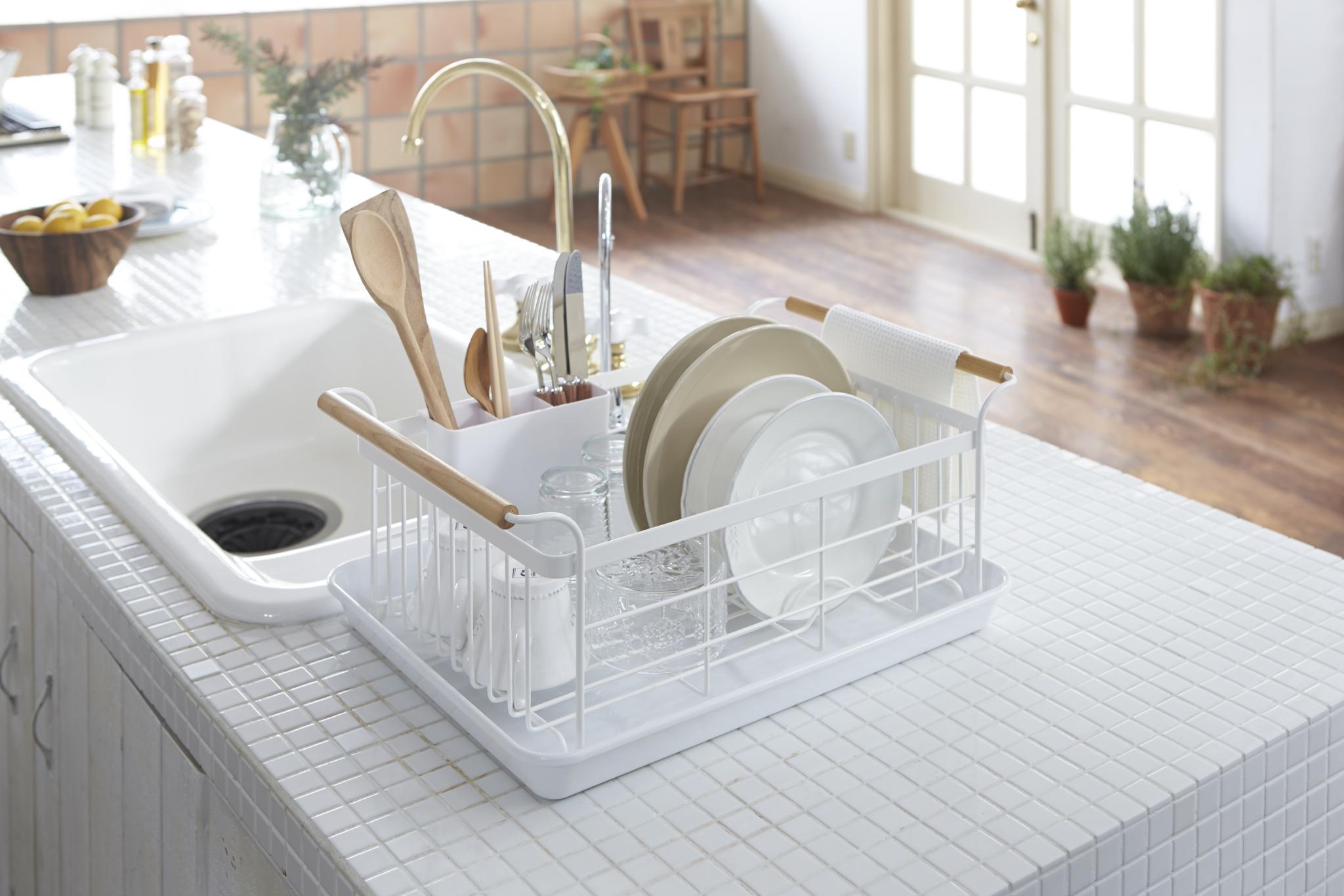 Yamazaki Home Tosca Expandable Dish Drying Rack