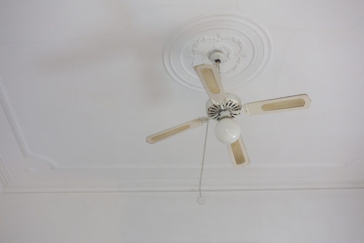 a caned ceiling fan for hot summer days. 25