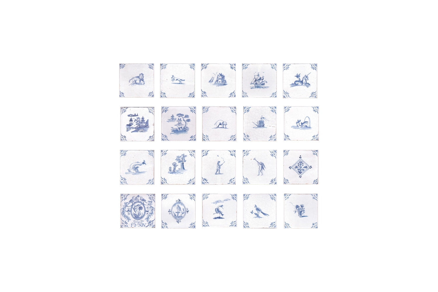 available at francis ceramics, hand painted delft tiles are inspired by vintage 13