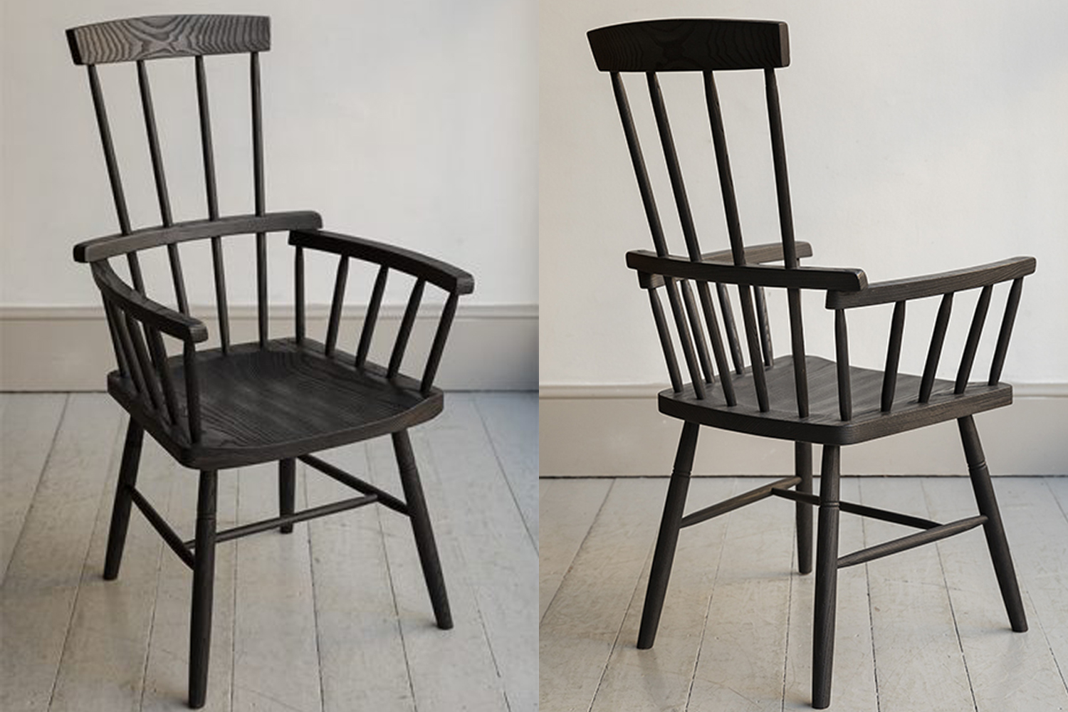 featured in the restaurant are charred comb back windsor chairs from howe in lo 15