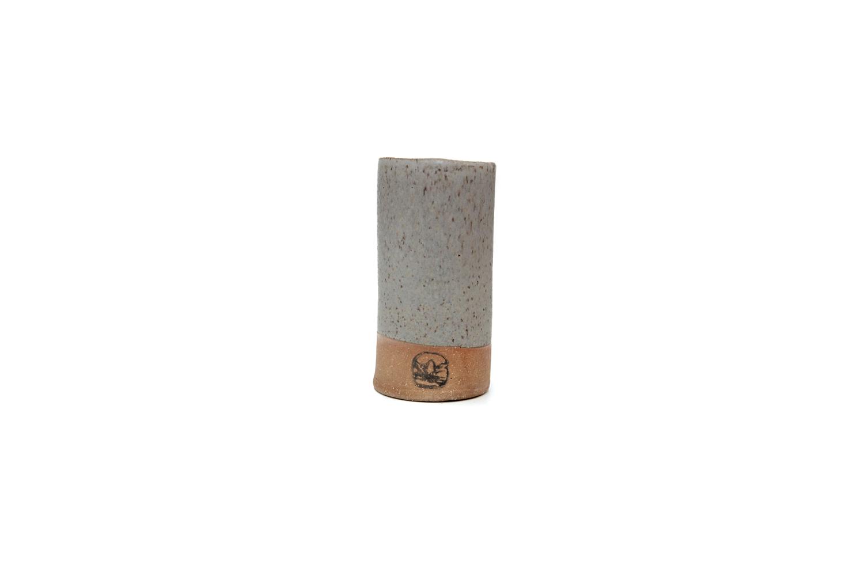 the ceramic tumbler in metal gray is \$48 at m.crow. 24