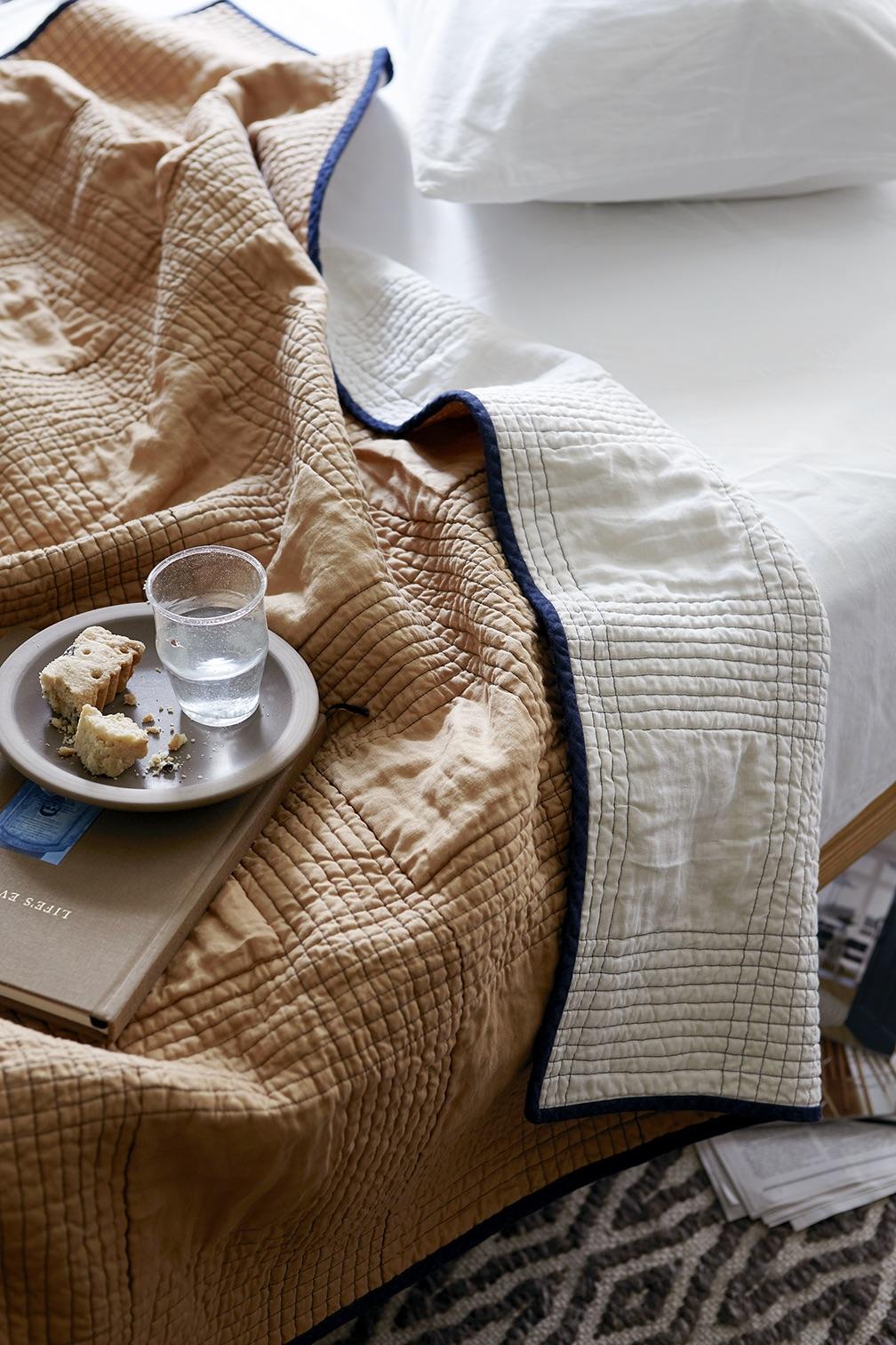 Mathilde: Minimalist Linen Quilts, Made in Rhode Island - Remodelista