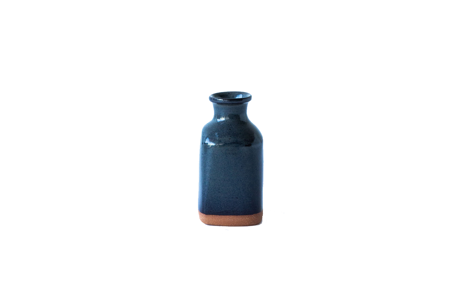 the new york stoneware charcoal bud vase is \$35 at lost and found in los angel 25