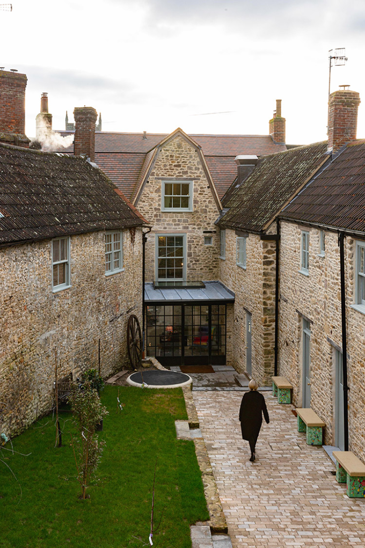 the hotel is situated around a courtyard done by garden designer and writer pen 9