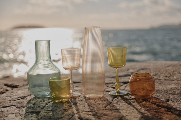 Current Obsessions Laidback Summer We&#8\2\17;re admiring the selection of softly colorful Italian glassware from Obakki, handmade in a workshop run by third generation glassblowers and designed to last. For a look at the collection, head here.