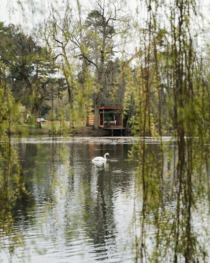 Retreat for Two A Lakeside Rental Cabin at Settle in Norfolk England The latest addition: the cabin&#8\2\17;s private soaking pavilion.