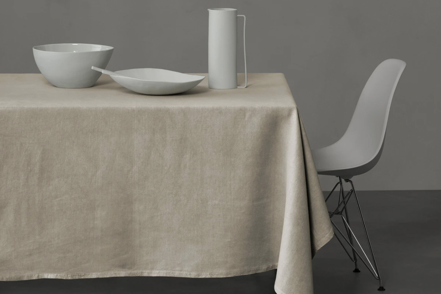 for a similar tablecloth to the linens seen on the dining room tables, the soci 19
