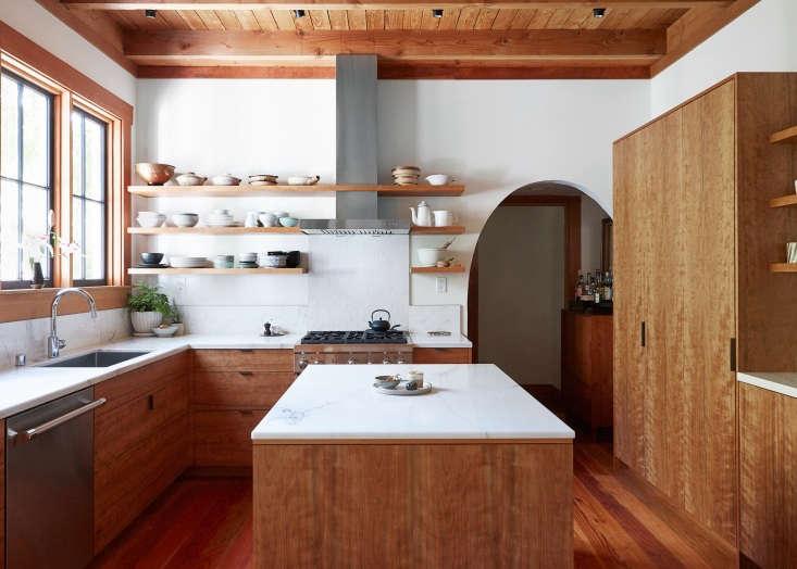 wood kitchen oakand aya brackett remodel beamed ceilings 2   1 1