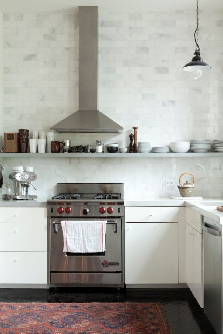 captured when it was new, the kitchen was a model of inventive, cost conscious  9