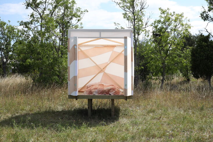inspired by world war ii dazzle camouflage on ships, the dazzle cabin is compos 15