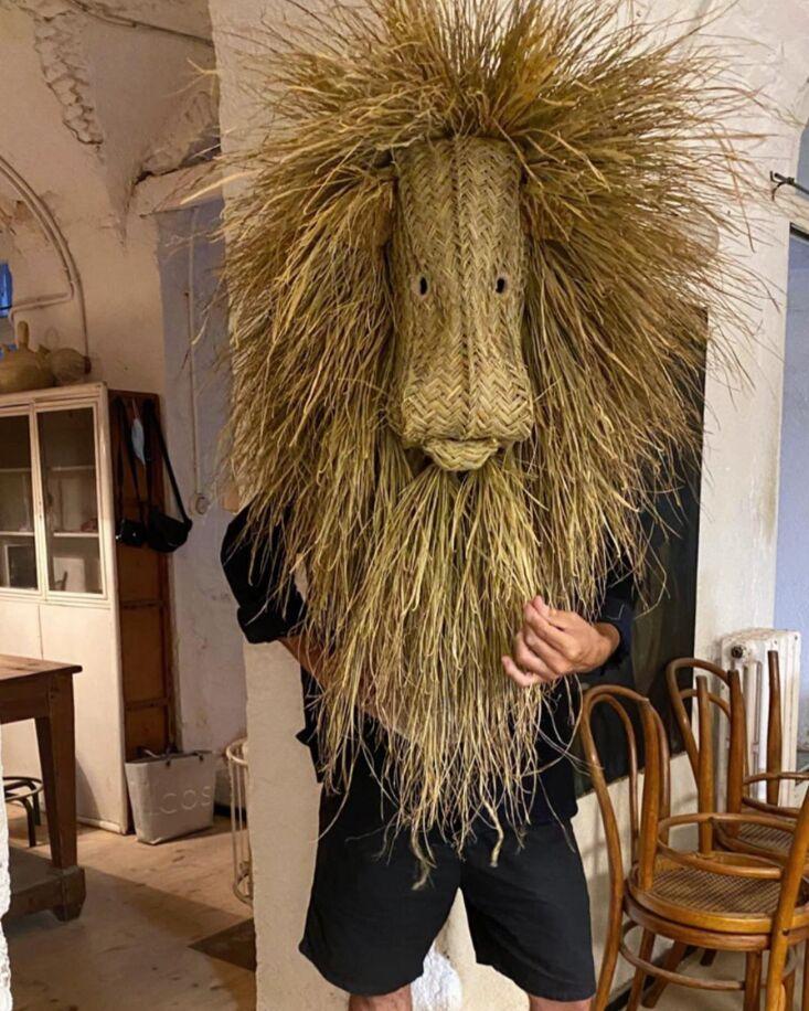 a lion head modeled by actor jaime zatarain. 14