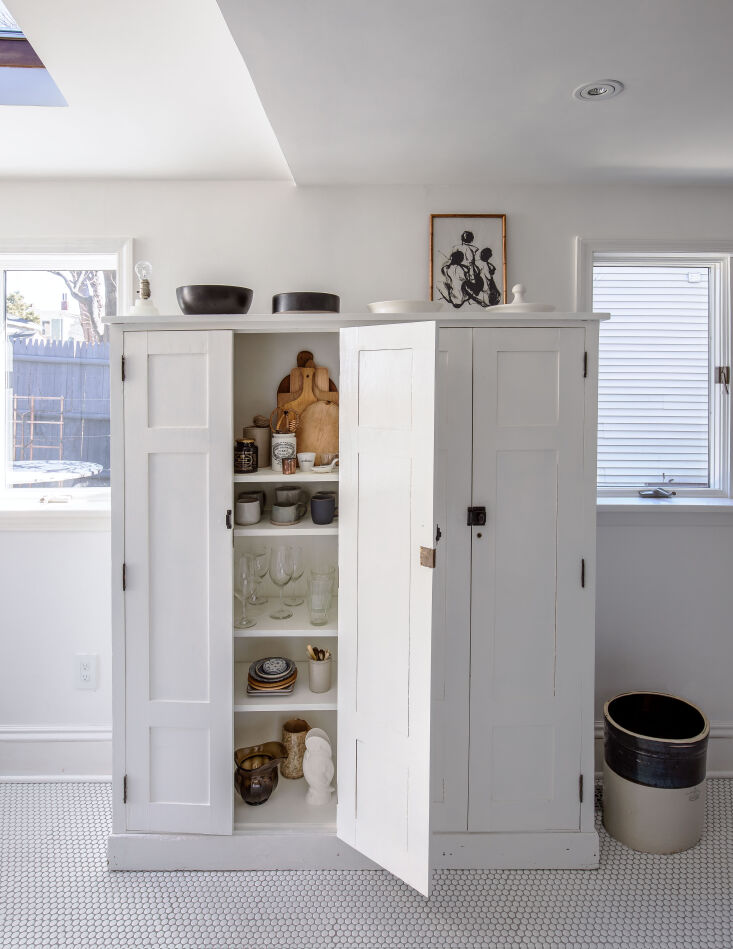 freestanding cabinets, found via an estate auction, store ceramics and glasswar 12