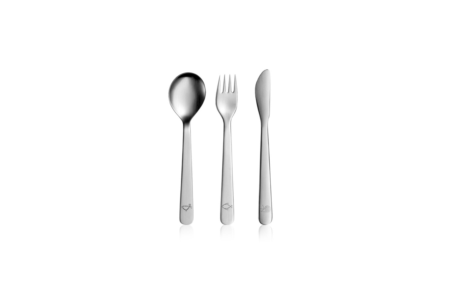 the mono petit children&#8\2\17;s flatware includes three simple pieces for 15