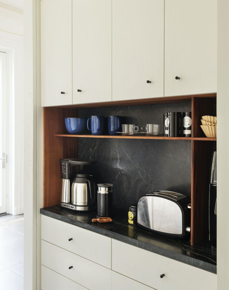 the coffee area—&#8\2\2\1;probably my favorite part of the kitchen,&# 15