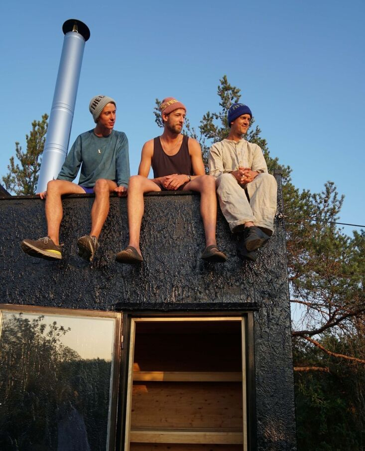 the sauna is weatherproofed with a swedish tar finish. &#8\2\20;some projec 13