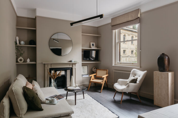 the curators apartment living room