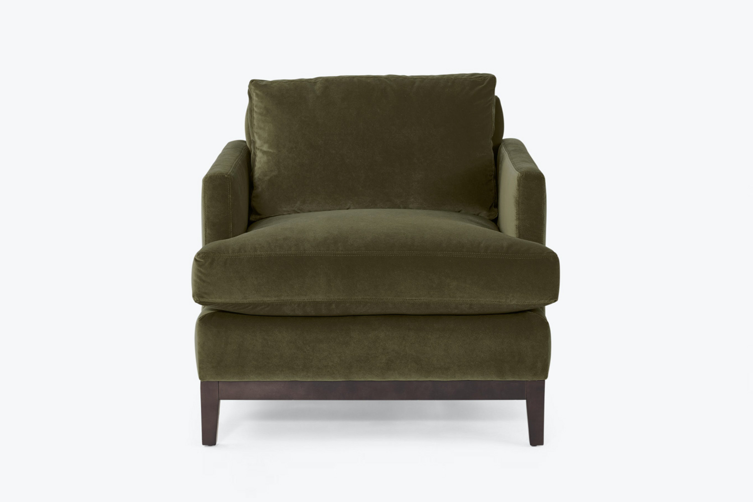 the cobble hill botanical chair in dark olive green is \$\1,080 at abc carpet & 18