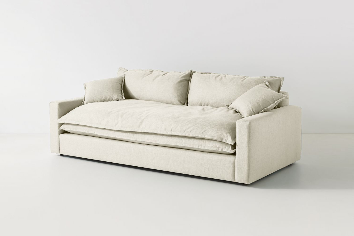 a similar low profile sofa with french seam details is the meriwether sofa avai 15