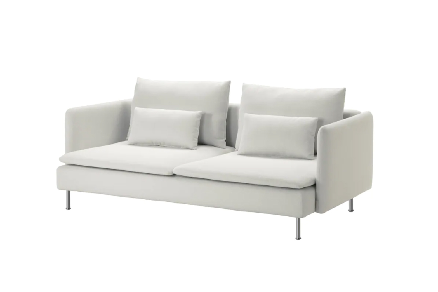 the ikea soderhamn finnsta white sofa is \$699 and is paired with a bemz soderh 16