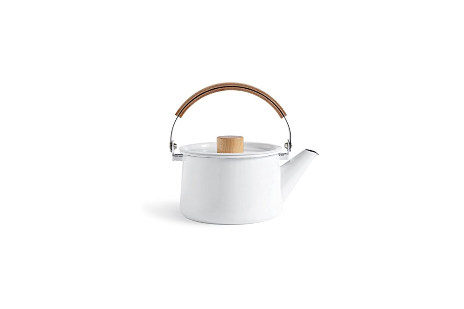 designed by makoto koizumi for kaico, the classic kaico kettle is \$75.\15 at h 23