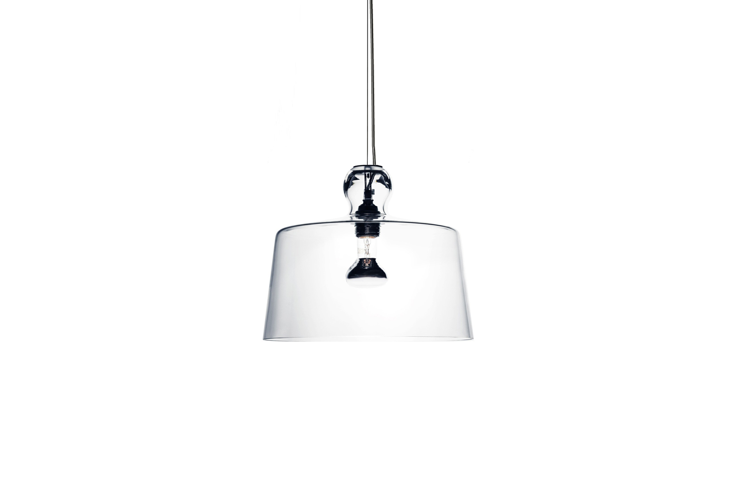 the michele de lucchi acquatinta pendant lamp is made with a lampshade in clear 14