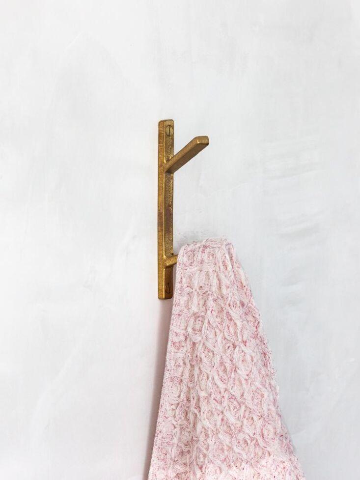 muro kanamono double hook brass