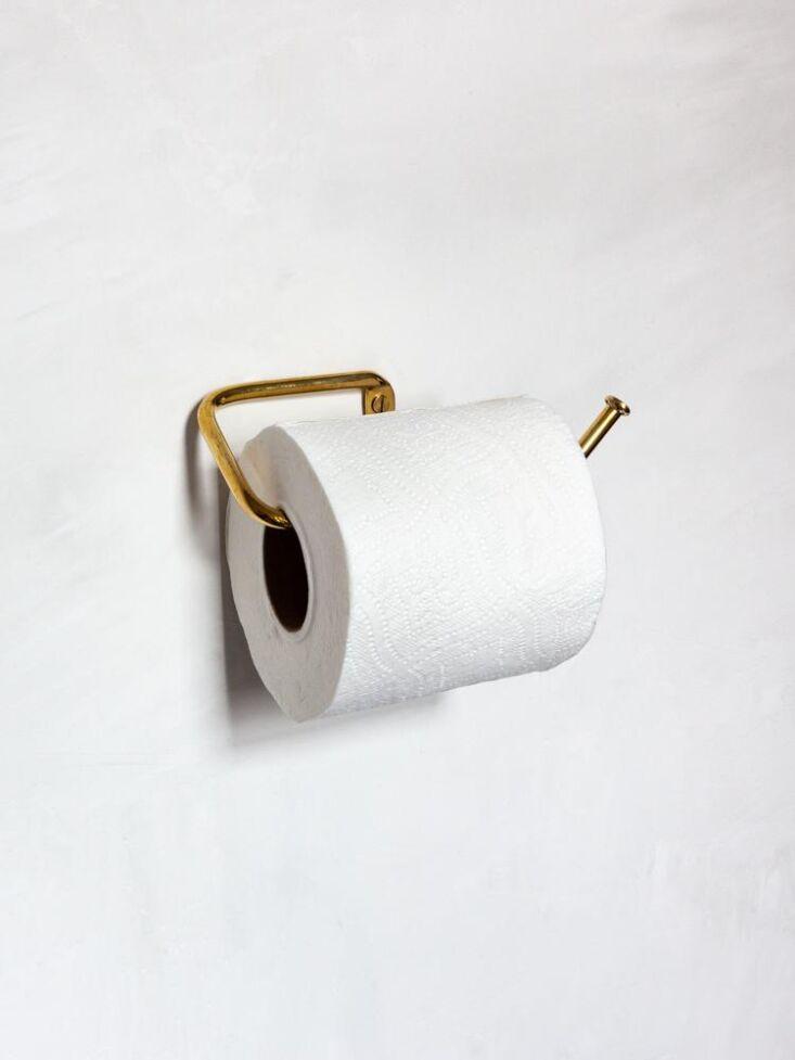 muro kanamono toilet paper roll brass