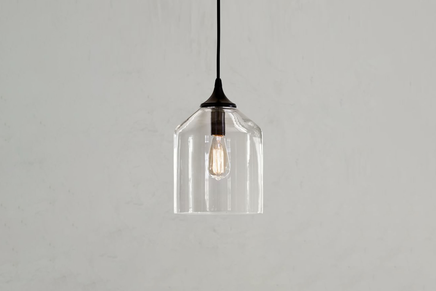 the city glass pendant is \$\299 at pottery barn. 15