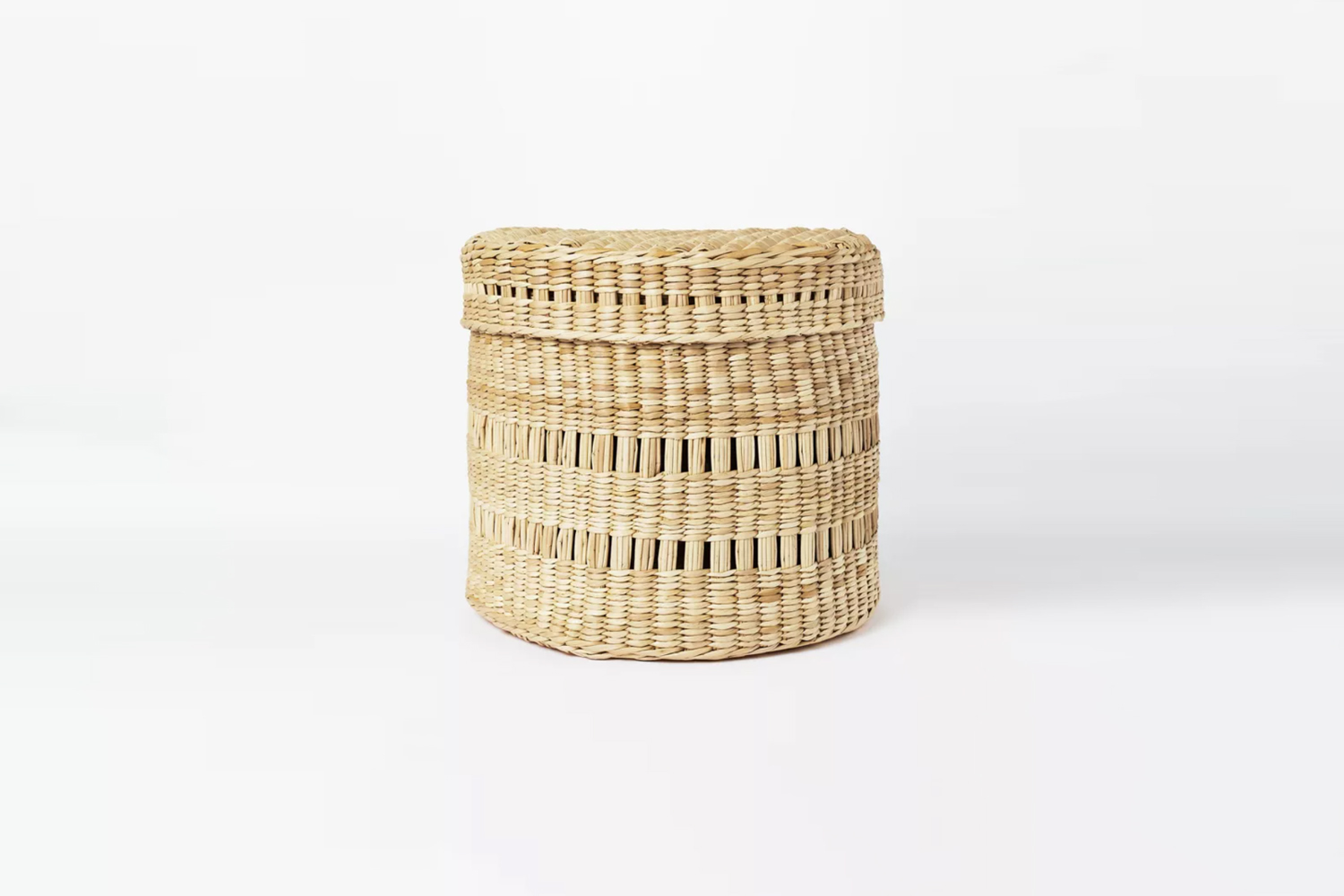 the threshold oval lidded basket is designed with studio mcgee for target for \ 22