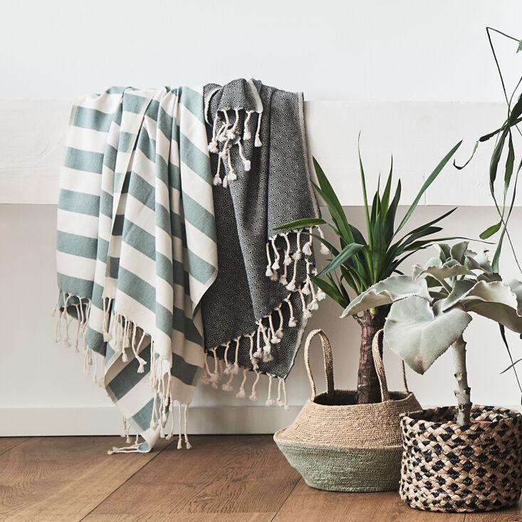 a bath (or beach) essential: the filizhammam towel (\$35) is handwoven in tur 12