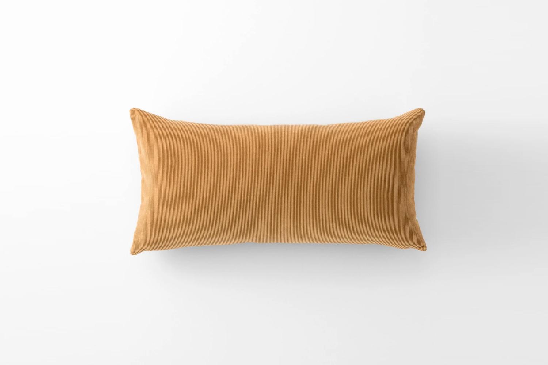 the schoolhouse velvet and corduroy lumbar pillow is \$\1\29. 22