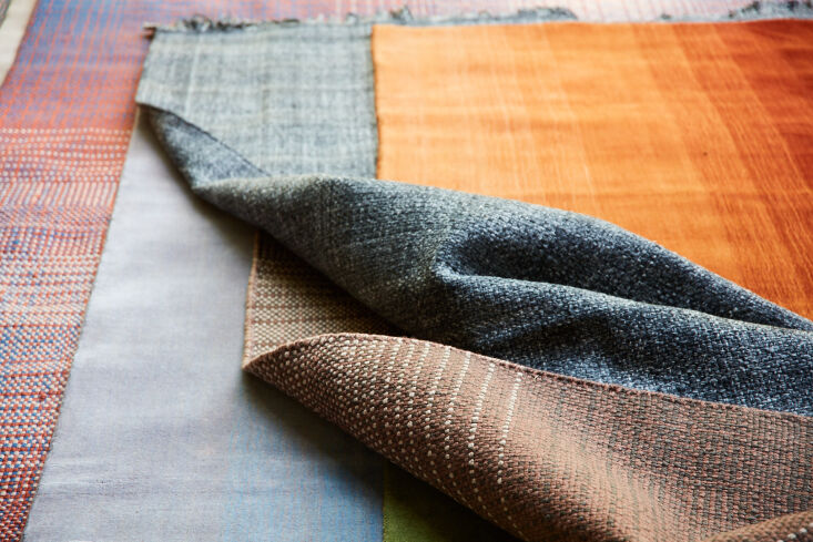 above: a close up of the woven rugs. 15