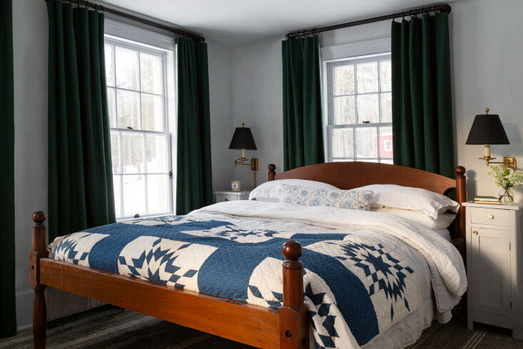 in another guest bedroom, more evidence that quilts are having a moment. 20