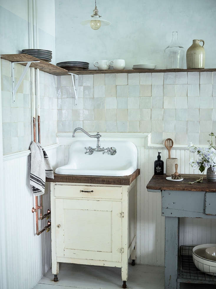 """""""If you can't find enough to fill out your whole project, use vintage ones as trim, that alone can add interest.""""Photograph byMartyn Thompson, courtesy of Zio & Sons."""
