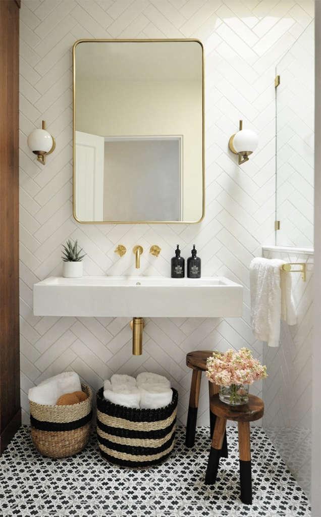 Bright + Modern Santa Fe Bathroom 1 - Built Design Collective