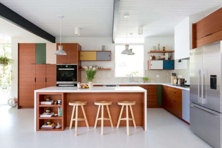pacific palisades color block kitchen california 1