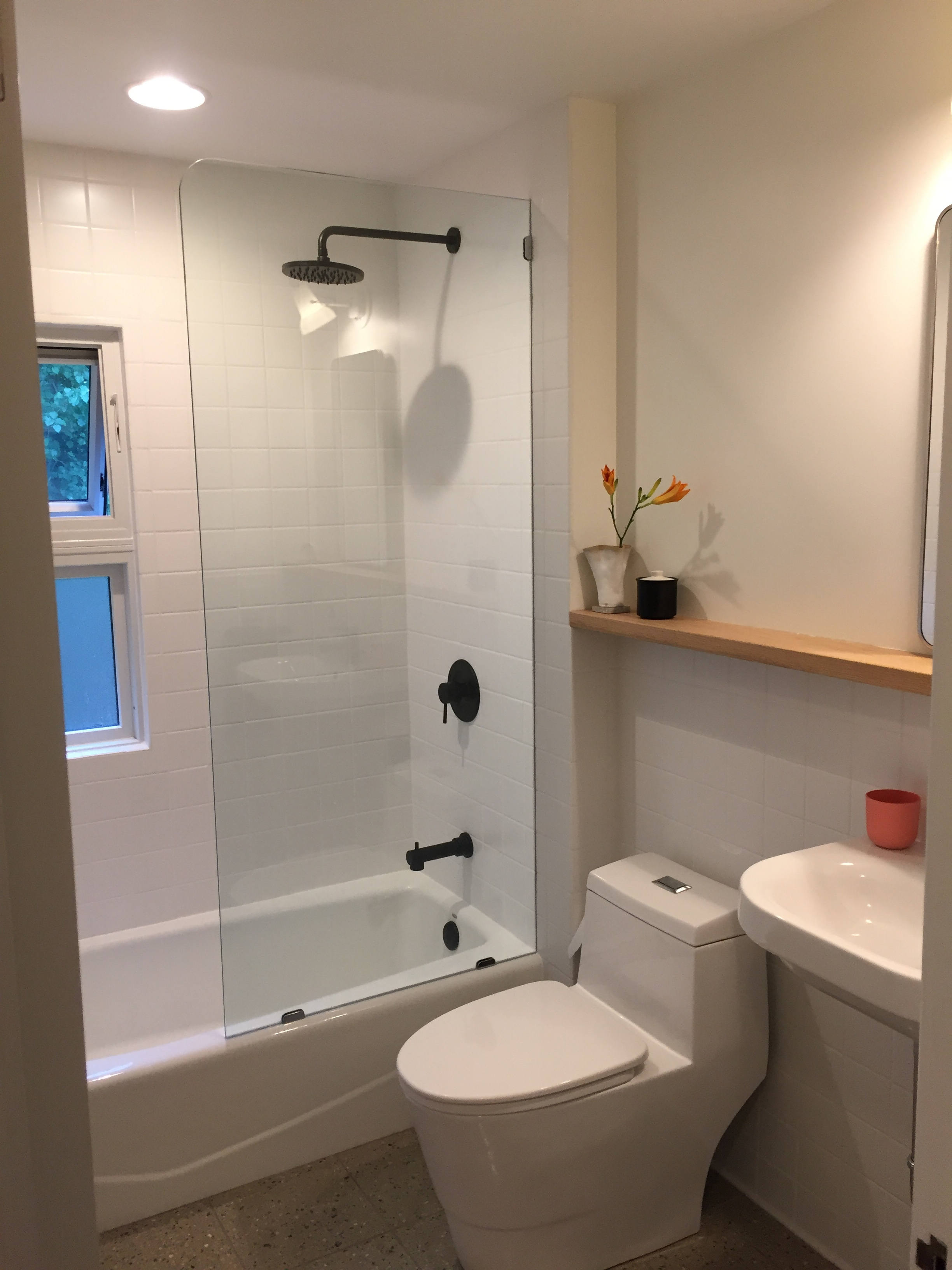 A Warm Modern Update For Small Bathroom Remodelista